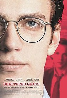 <i>Shattered Glass</i> (film) 2003 film directed by Billy Ray