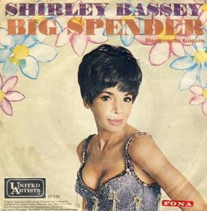 Big Spender - Image: Shirley Bassey, Big Spender, German single cover
