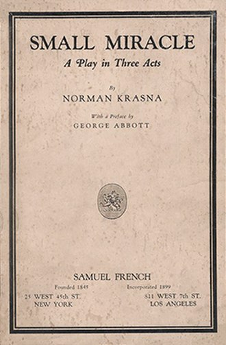Small Miracle - First edition dust jacket (1935)