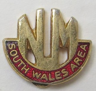 South Wales Miners' Federation - Image: South Wales Area of the National Union of Mineworkers logo