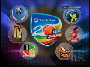 Stanbic Bank 20 Series - Stanbic Bank 20 Series Logo with all the franchise and Zimbabwe Cricket logos on Ten Cricket.