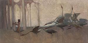 Sydney Long - The Spirit of the Plains (1914)