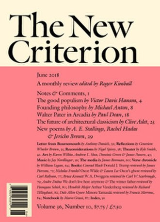 The New Criterion - Image: TNC cover