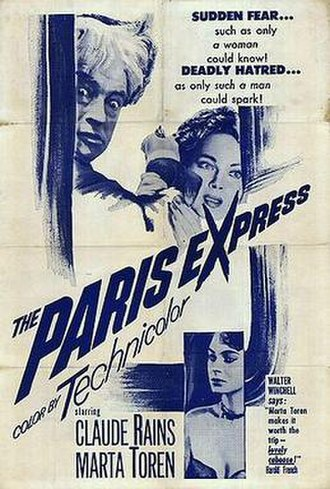 The Man Who Watched Trains Go By - The Man Who Watched Trains Go By poster (U.S. title The Paris Express)