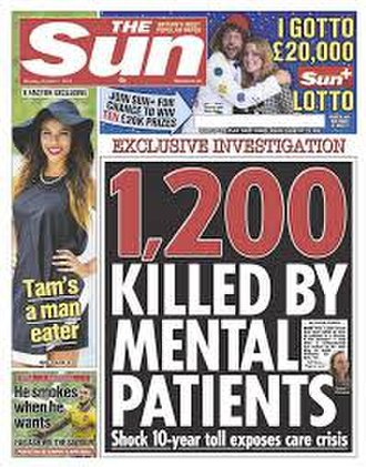 The Sun (United Kingdom) - Front page of The Sun, 7 October 2013