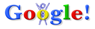 Google Doodle - The first ever Google Doodle celebrating Burning Man, which was used on August 30, 1998.