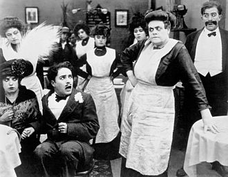 Marie Dressler - With Mabel Normand and Charles Chaplin in Tillie's Punctured Romance