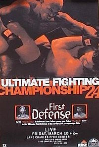 A poster or logo for UFC 24: First Defense.
