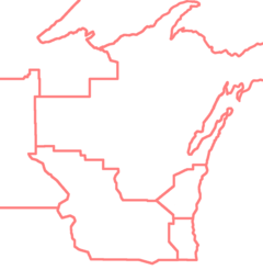 USA Wisconsin GSUSA council boundaries.png