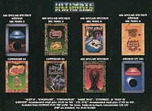 Magazine advertisement for Ultimate Play the Game, showcasing a composition of several game covers