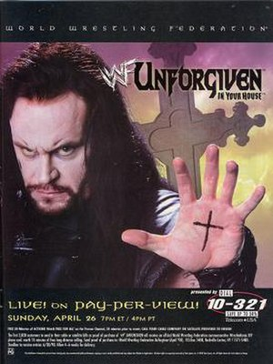Unforgiven: In Your House - Promotional poster, showcasing The Undertaker