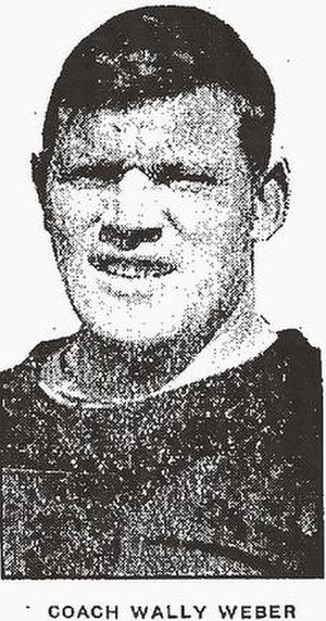 Wally Weber - Weber as Benton Harbor High School coach, 1929