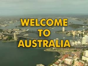 Welcome to Australia - Screenshot of title card