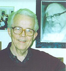 Benjamin Wright with a photo of Georg Rasch