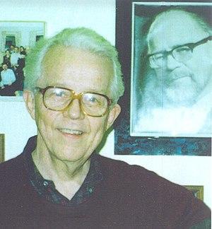 Benjamin Drake Wright - Benjamin Wright with a photo of Georg Rasch
