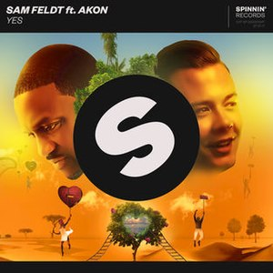 Yes (Sam Feldt song) - Image: Yes Sam Feldt Akon