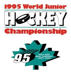 1995 World Junior Ice Hockey Championships - Image: 1995 WJHC logo