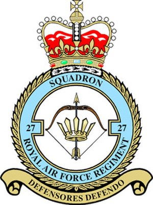 No. 27 Squadron RAF Regiment - Image: 27 Sqn RAF Regt Badge