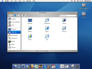 Aqua (user interface) - Image: AM Mac OSX Panther
