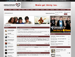 The AbsolutePunk homepage as of July 2008.