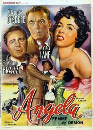 Angela (1955 film) - Theatrical poster