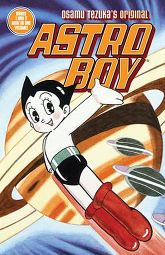 Astro Boy - The cover for Astro Boy volume 1 and 2 compilation by Dark Horse Comics.