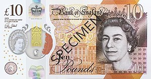 Bank of England £10 note - Image: Bank of England £10 obverse
