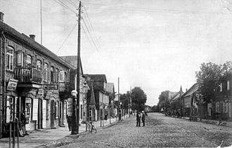 Biržai - Street of Vytautas, Birzai, 1930-40s Photographer Petras Loceris (1892-1973)