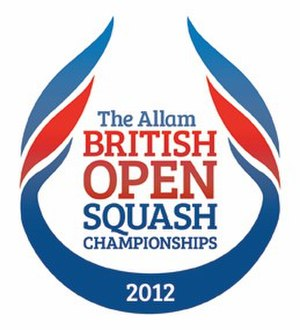 2012 Men's British Open Squash Championship - Image: British Open Logo