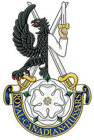 The Royal Canadian Hussars (Montreal) - Image: Cap badge of the Royal Canadian Hussars