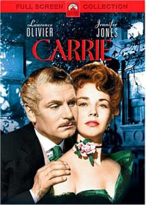 Carrie (1952 film) - DVD release cover