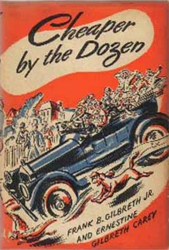 Cheaper by the Dozen - First edition cover (Thomas Y. Crowell Co.)