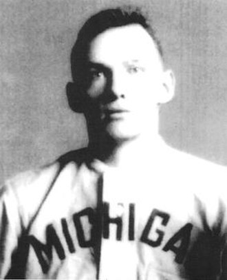 Chick Lathers - Chick Lathers in his University of Michigan baseball uniform, c. 1909