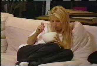 """Newlyweds: Nick and Jessica - Jessica Simpson's famous """"Chicken or fish?"""" moment in the first episode of Newlyweds."""