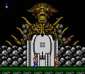 Contra (video game) - The boss of Stage 3 in the NES version
