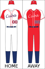Cuba's national baseball uniform
