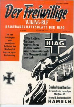 Graphic of the 1959 cover of Der Freiwillige
