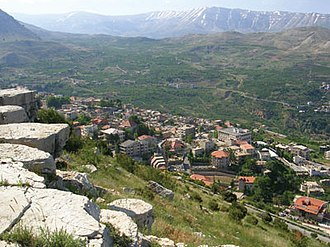 Horsh Ehden - View to ehden from a near mountain