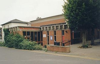 Redgrave Theatre, Farnham - Entrance to the Redgrave Theatre in 1995