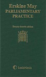 Erskine May - Parliamentary Practice 24th edition cover.jpg