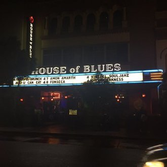 House of Blues - San Diego House of Blues in San Diego, California near Petco Park, the Gaslamp Quarter and the ocean.
