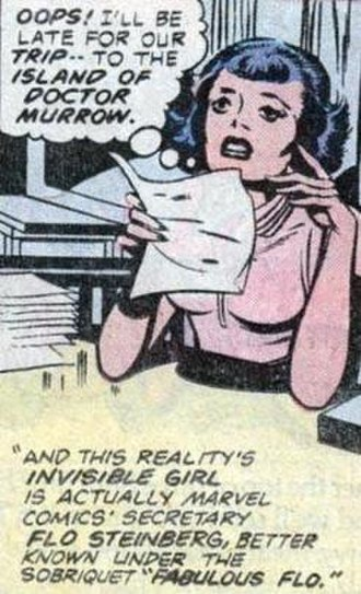 """Flo Steinberg - Image: FABULOUS FLO in Fantastic Four's """"What if...?"""" number 11 FU"""