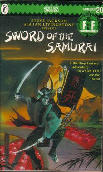 Sword of the Samurai (gamebook) - Cover of the original Puffin Books edition