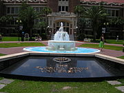 It is traditional for students to be dunked in the Westcott fountain on special occasions