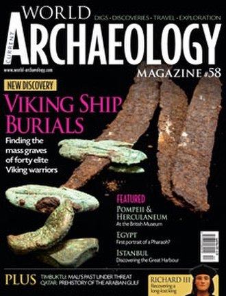 Current World Archaeology - Image: Front cover of Current World Archaeology issue 58