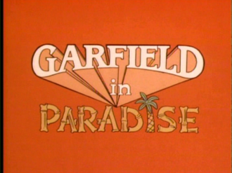 Garfield in Paradise - The Title