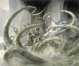 Watcher in the Water - Book illustration by artist John Howe.