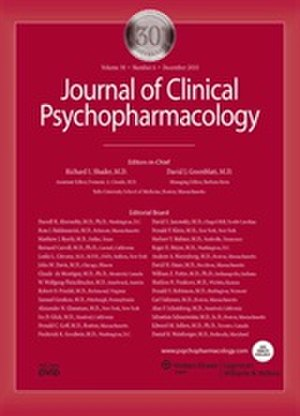 Journal of Clinical Psychopharmacology - Image: Journal of Clinical Psychopharmacology