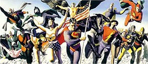 Justice Society of America - The original Justice Society of America. Art by Alex Ross.