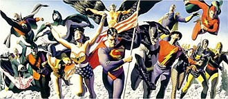 Justice Society of America - The original Justice Society of America. Art by Alex Ross